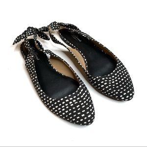 Lucky Brand Polka Dot Slingback Bow Ballet Flats